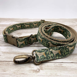 Dog Accessories Golden Labrador Dog Collar and Lead Set