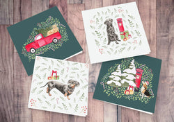 Greeting Card Christmas dogs card set