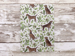 Notebook Chocolate Labrador A6 Lined Notebook