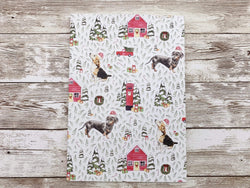 Notebook Dachshund and Beagle A5 Christmas Notebook