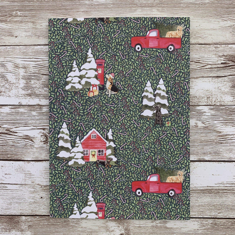 Notebook Dog A5 Christmas Lined Notebook