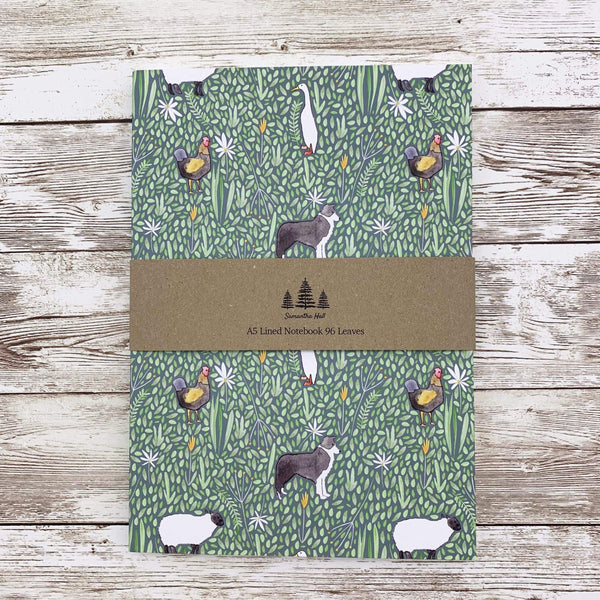 Notebook Farm Animals Thick A5 Lined Notebook