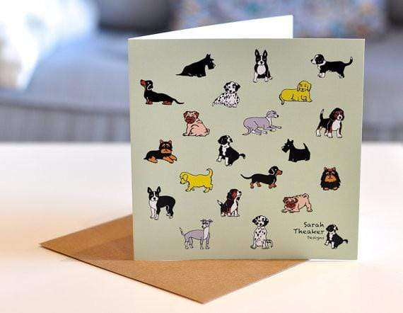 Card Mixed Dog Greeting Card