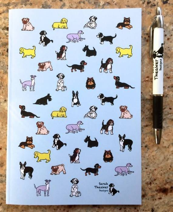 Notebook Mixed Dog Lined Notebook