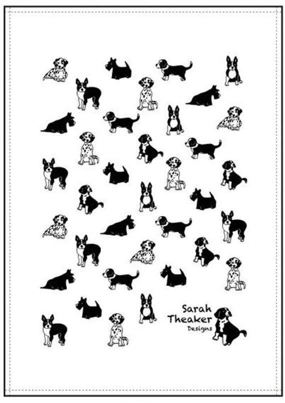 Tea towel Mixed Dog Tea Towel