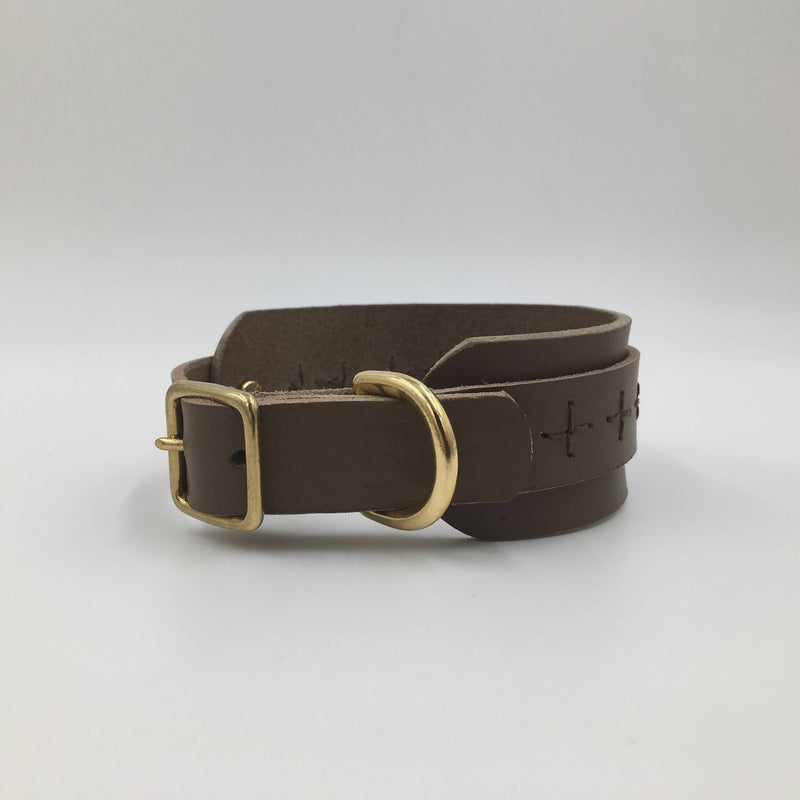 Dog Collar Greige Craft Iggy/Whippet collar