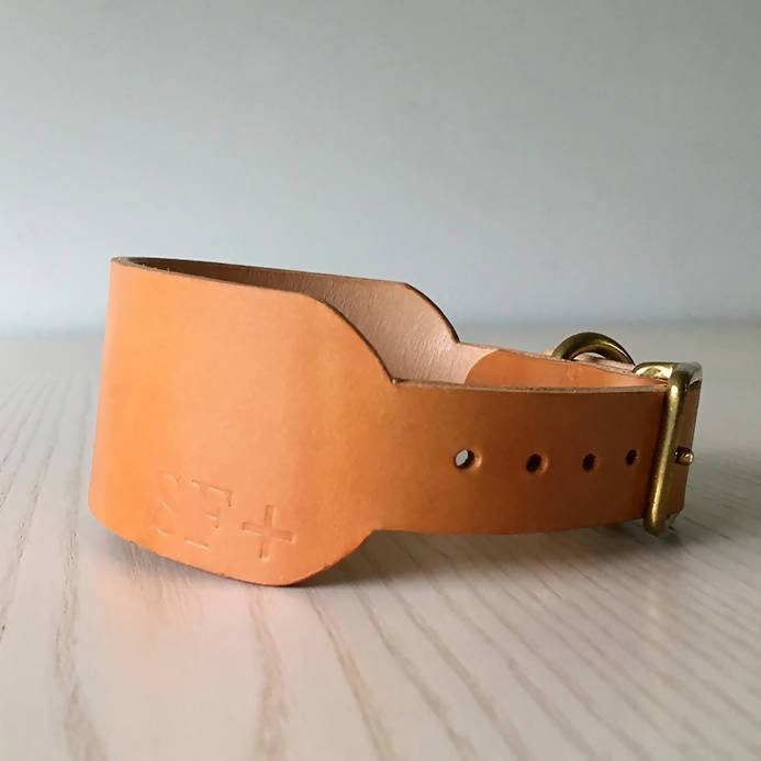 Dog Collar Natural Tan Sighthound collar