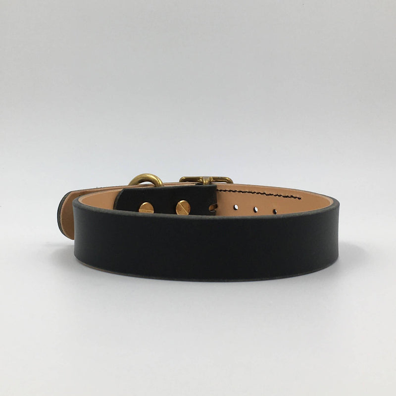 Dog Collar Raven Black Artisan collar