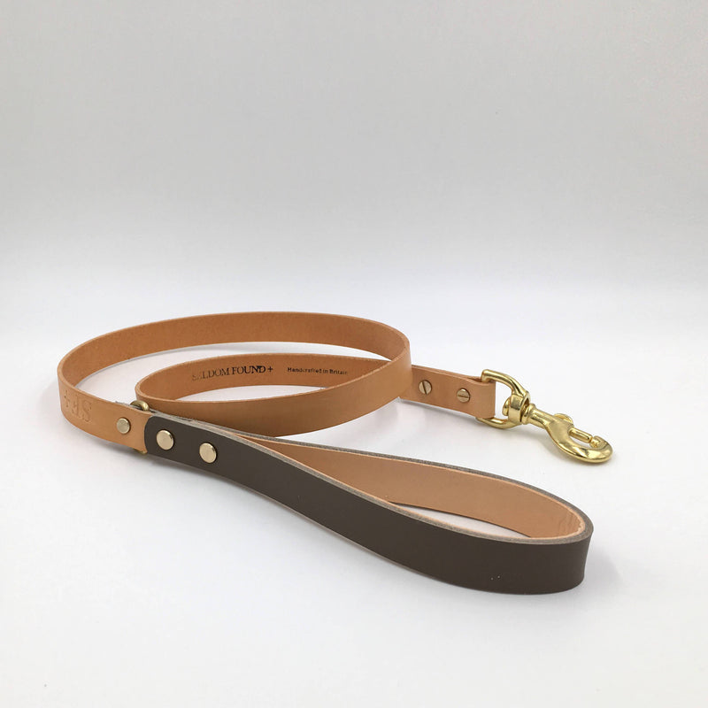 Dog Lead Greige and Tan Artisan lead