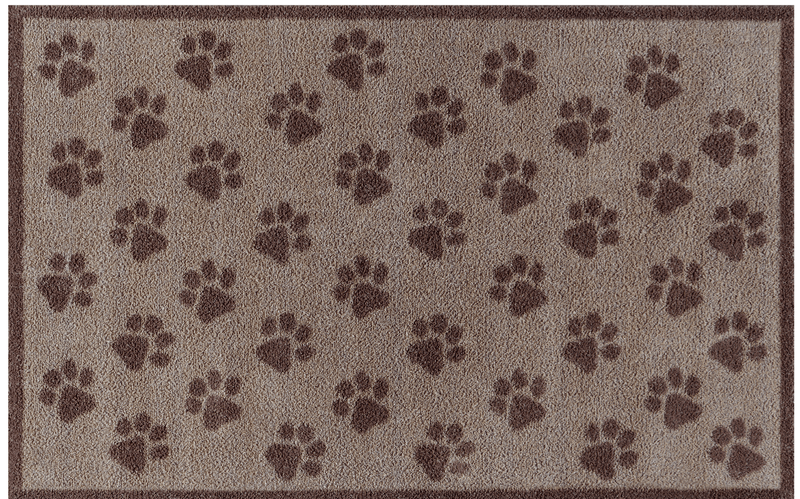 Door Mat Large Brown Paws Door Mat