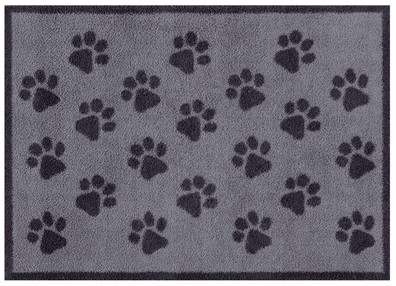 Door Mat Medium Grey Paws Door Mat