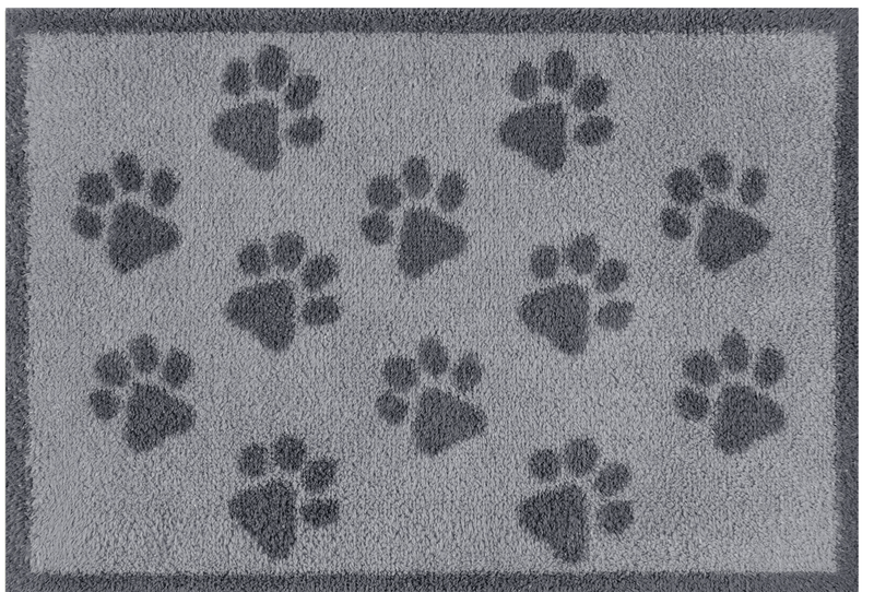 Door Mat Small Grey Paws Door Mat