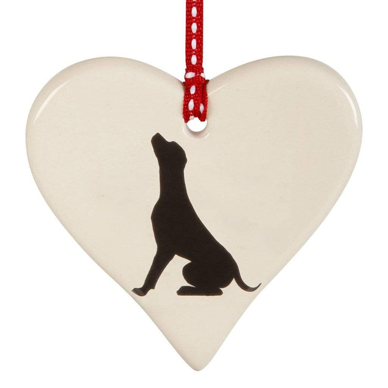 Hanging Decoration Seated Labrador Hanging Heart