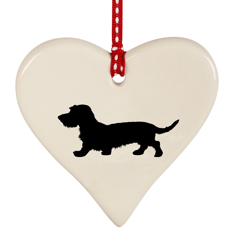 Hanging Decoration Wirehaired Dachshund Hanging Heart