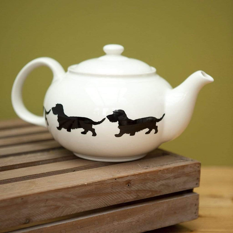 Wirehaired Dachshund Teapot