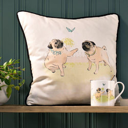 Cushion Playtime Pug Scatter Cushion