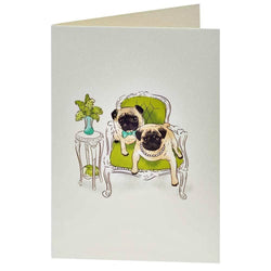 Greetings card Lazy Days Pug Greetings Card