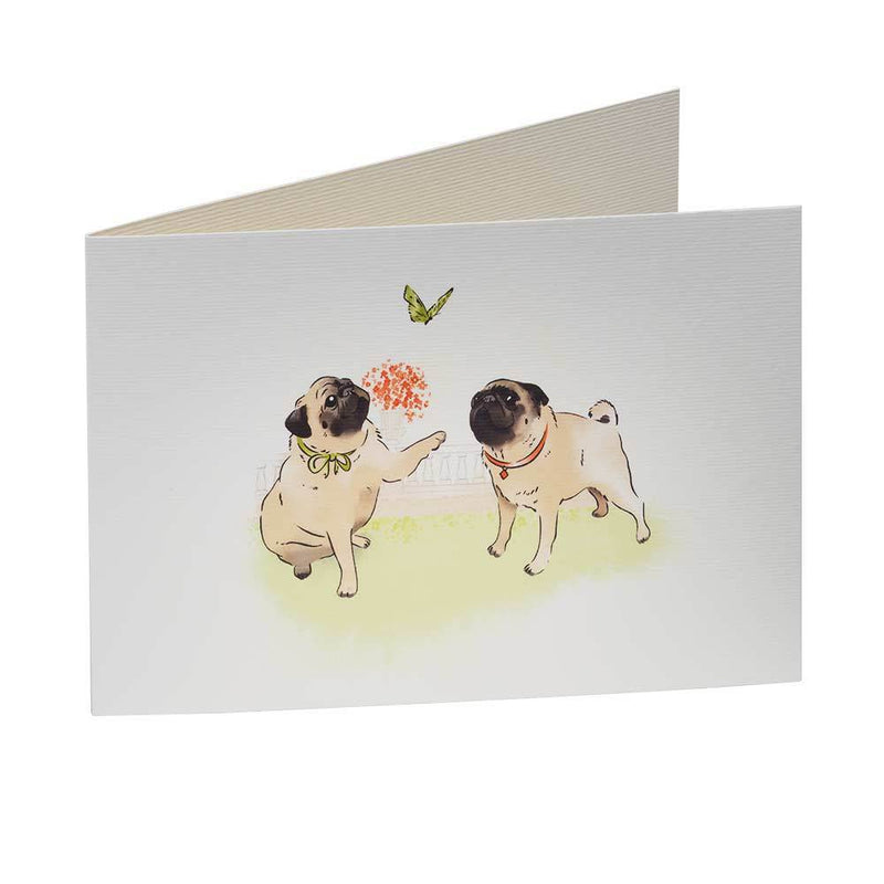 Greetings card Playtime Pug Greetings Card