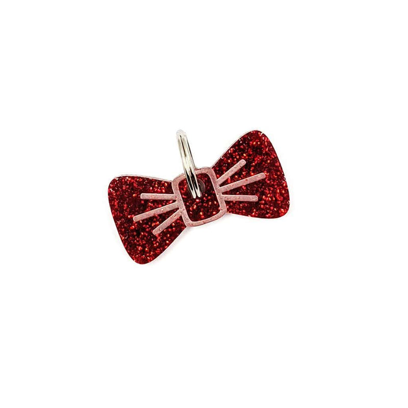 Dog Accessories Cherry Glitter BowDangle