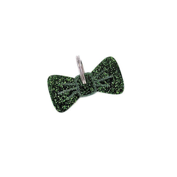 Dog Accessories Forest Glitter BowDangle