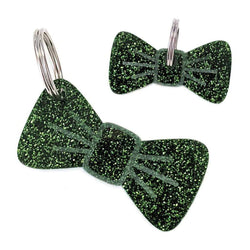 Dog Accessories Forest Glitter Pooch & Pooch Parent BowDangle Set