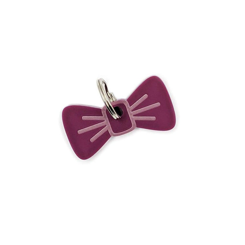 Dog Accessories Planetary Plum BowDangle