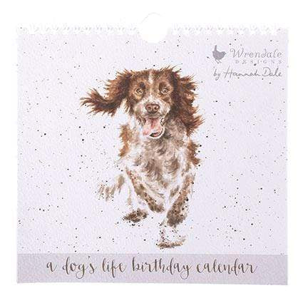 Stationery Wrendale Birthday Calendar - Dog