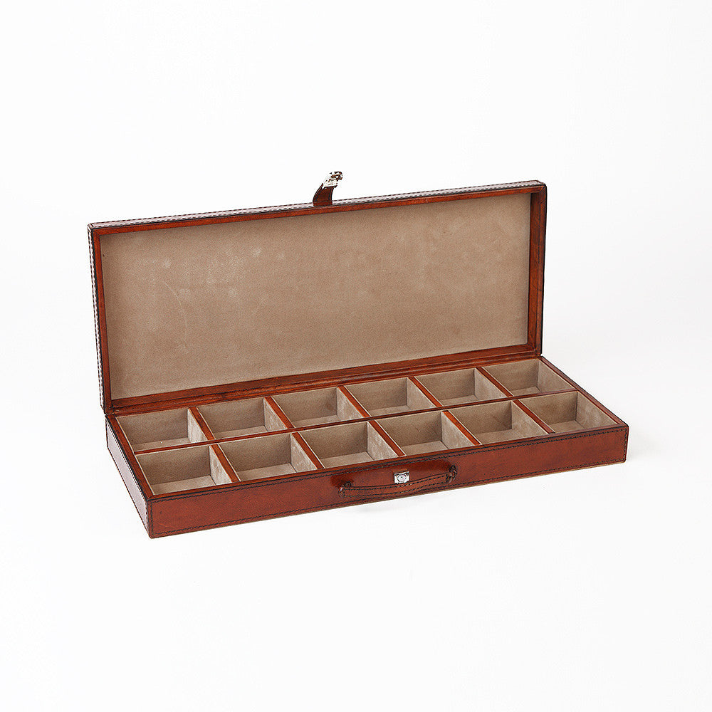 Leather Cufflink Case
