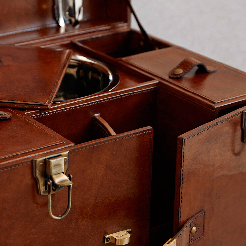Leather Drinks Case