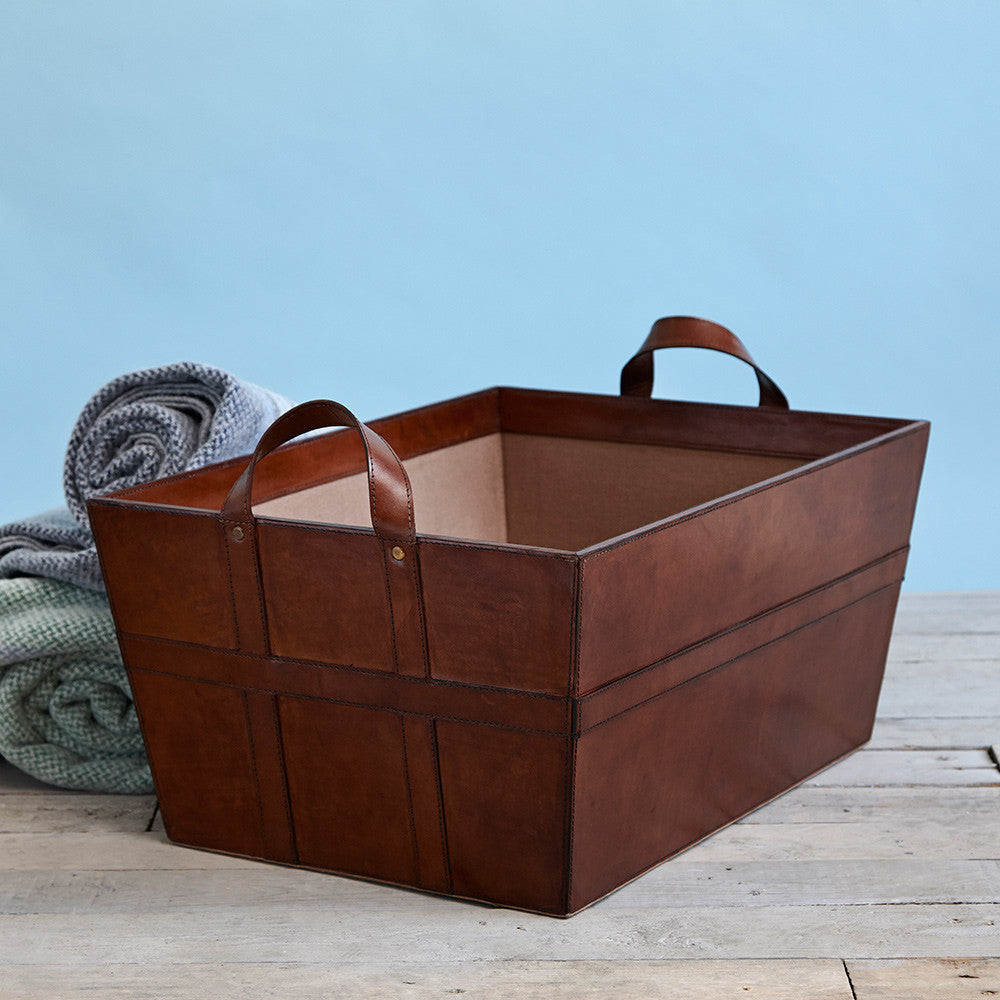 Leather Log Basket