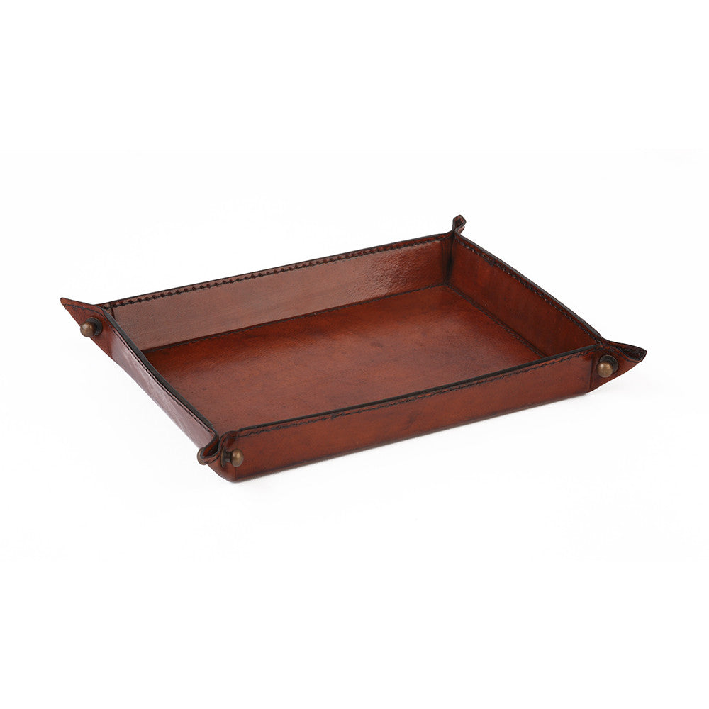 Small Leather Coin Tray