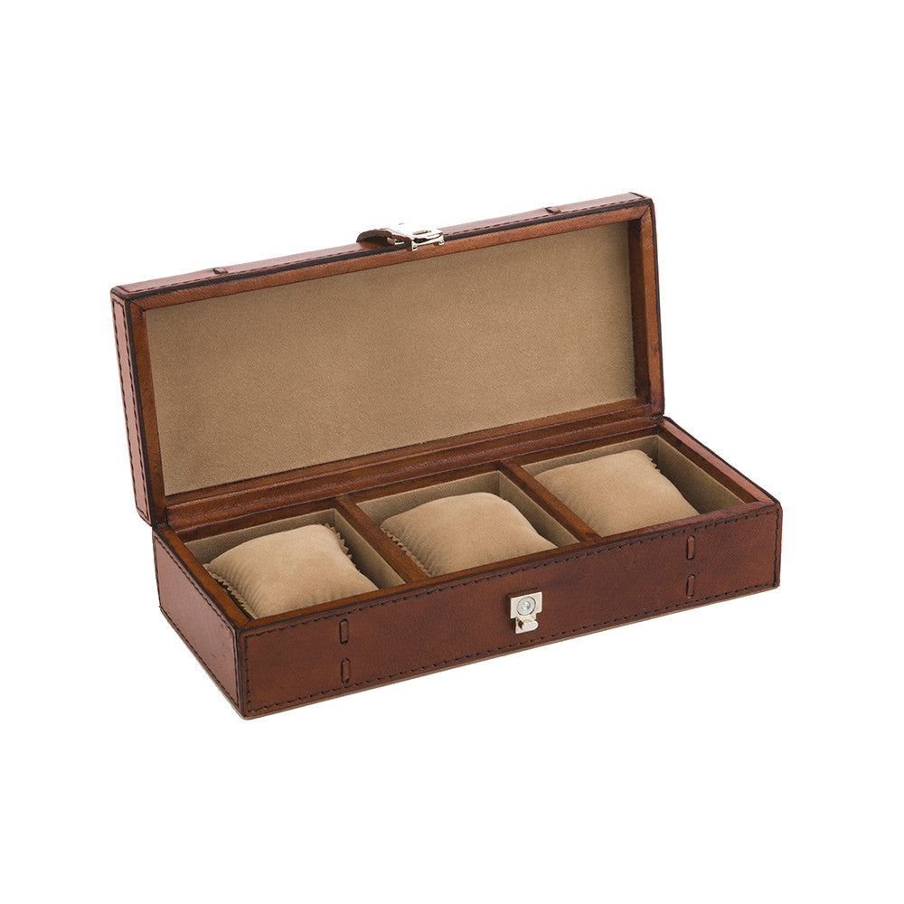 Leather Watch Box - 3 Watches