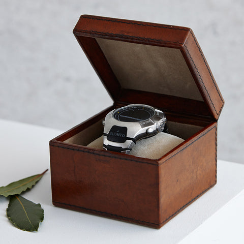 Leather Watch Box - Single