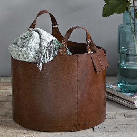Leather Laundry Basket