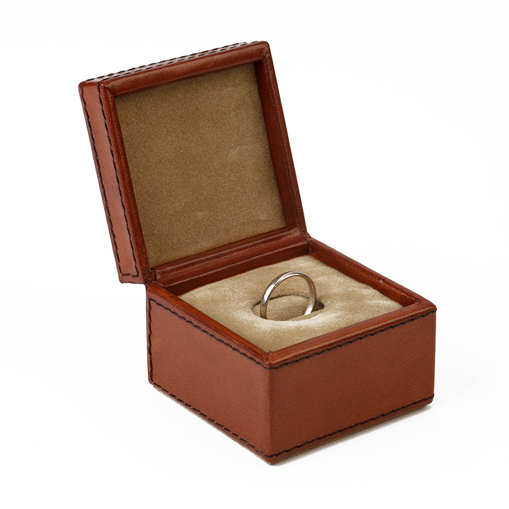 Leather Ring Box - Single