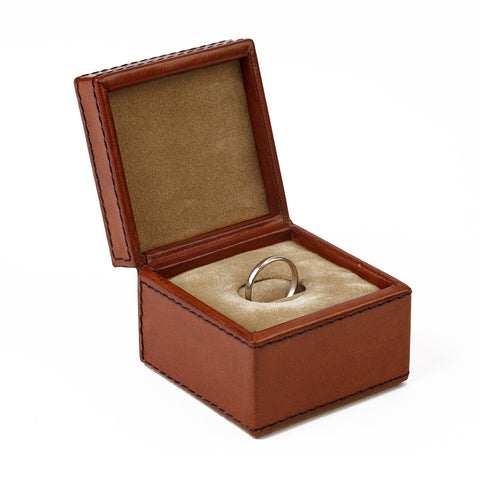 Single Slot Leather Ring Box