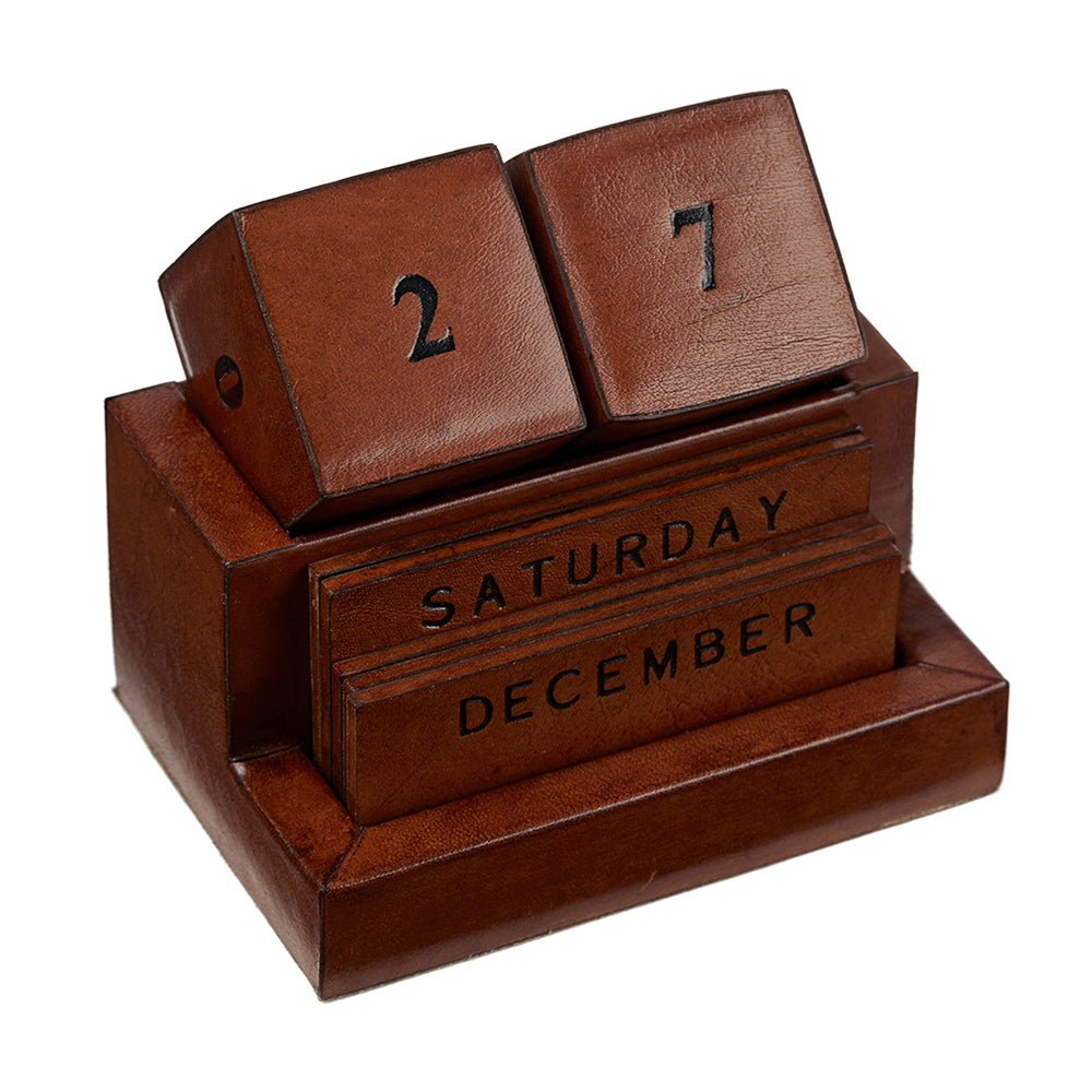 Leather Block Calendar