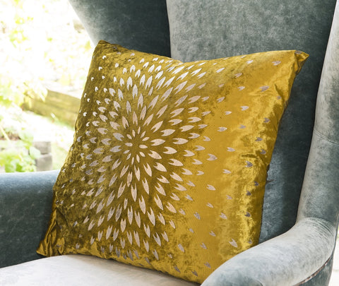 Chrysanthemum Cushion - Aztec