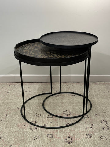Round Tray Table Set & Marrakesh Tray