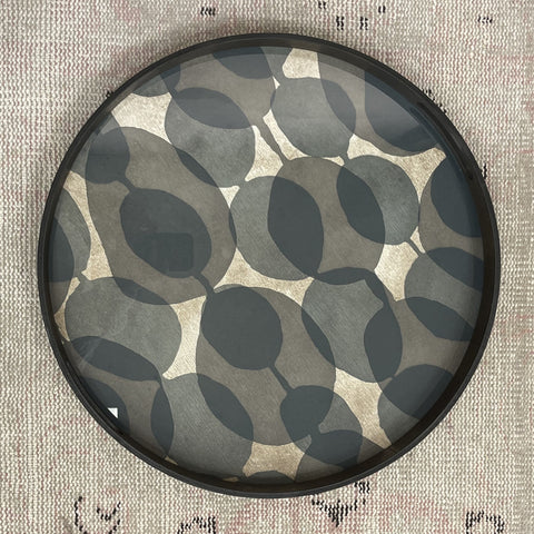 Connected Dots Glass Tray