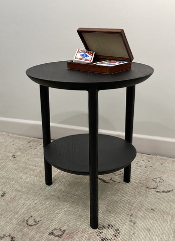 Oak Black Side Table
