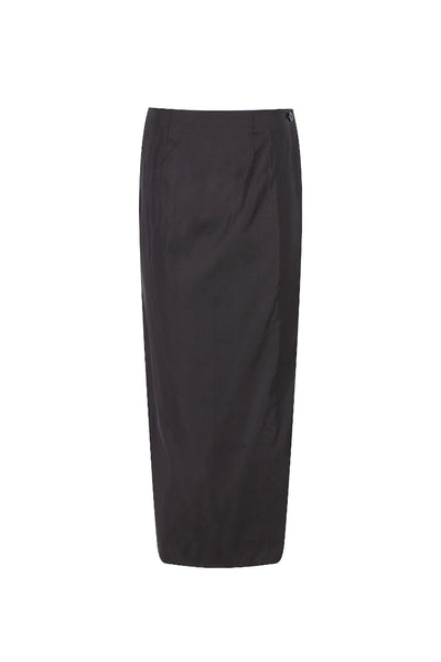 Silk Taffeta Wrap Skirt
