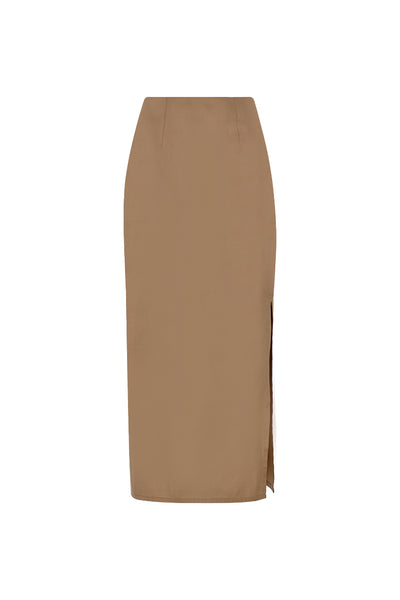 Silk Taffeta Maxi Pencil Skirt