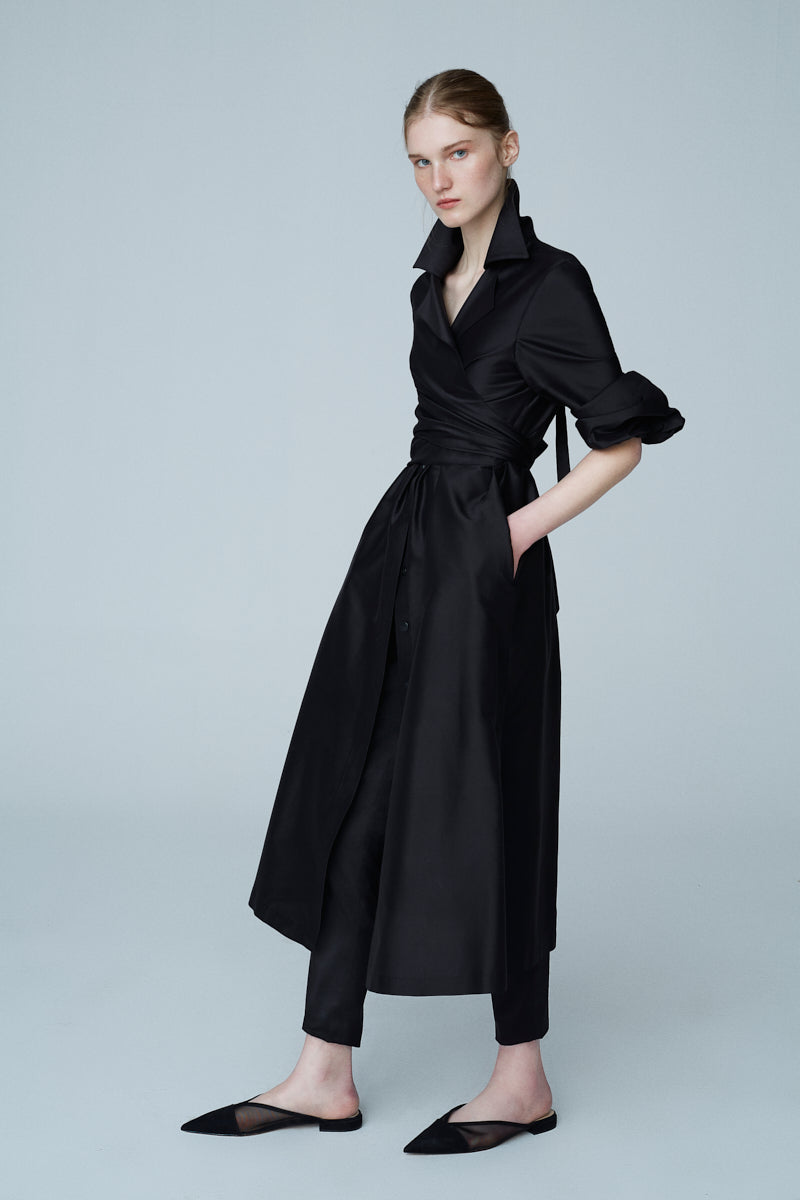 Silk Taffeta Maxi Dress