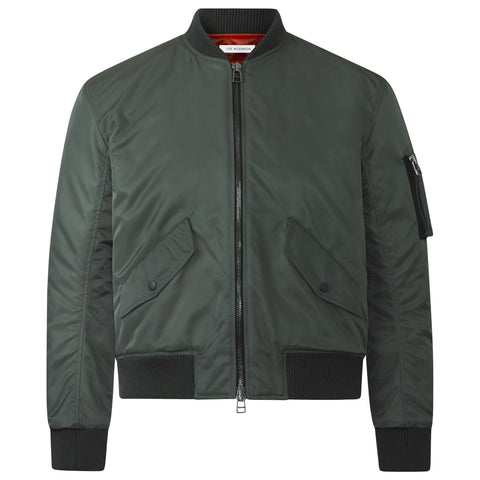 OLIVE GREEN SIGNATURE BOMBER