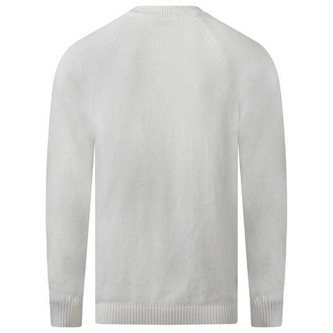 IVORY SEA ISLAND COTTON KNITTED SWEATER