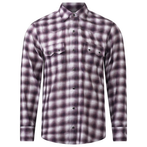 PLUM PLAID PAISLEY SHIRT