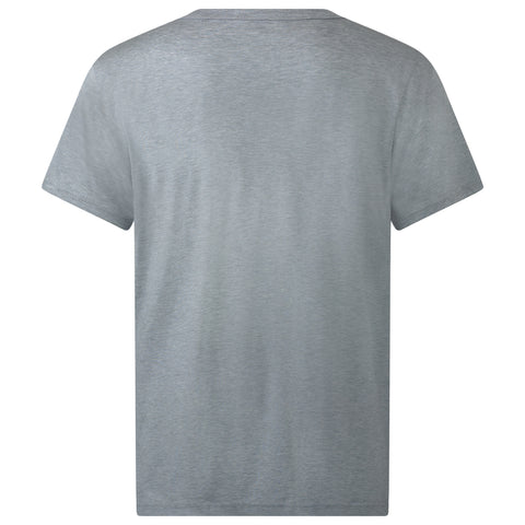 SILVER MARL EGYPTIAN COTTON T-SHIRT