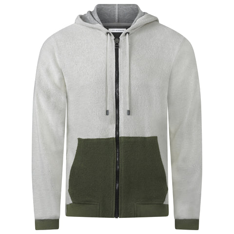 REVERSE PATCHWORK JAPANESE LOOP WHEEL ZIP HOODIE