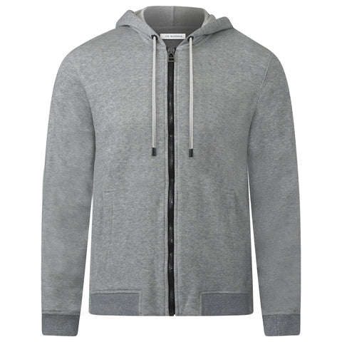 SILVER MARL JAPANESE LOOP WHEEL ZIP HOODIE
